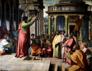 Saint Paul preaching at the Areopagus in Athens
